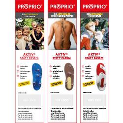 Anzeigenvorlage PROPRIO Drittel DIN A4 hochkant